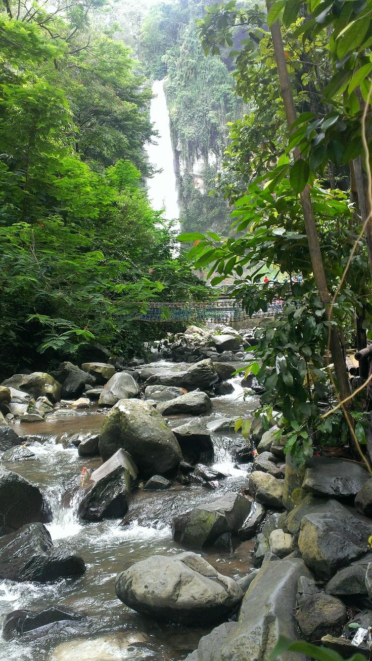 Grojogan Sewu or Tawangmangu waterfalls in Karanganyar, Central Java, arround 1 hour from Solo.