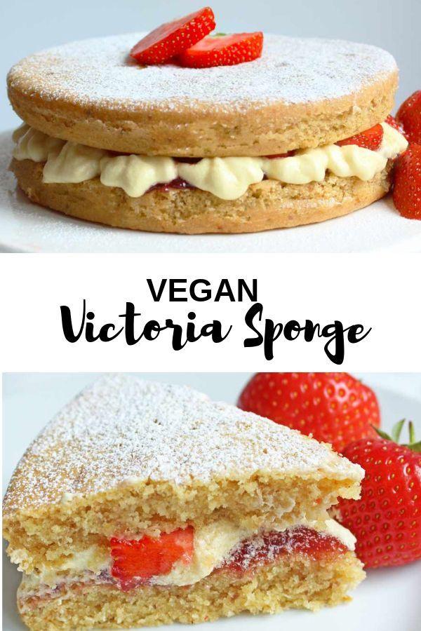 Vegan Victoria Sponge Recipe Vegan Cake Recipes Vegan Victoria Sponge Dairy Free Buttercream