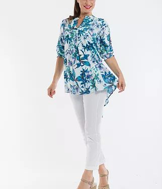 Pretty Print Top by Orientique. Available up to AU size 18. #summer #fashion #curvy #plussize #top