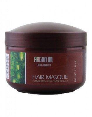 Питательная, увлажняющая  маска для волос с маслом арганы и экстрактом икры, Argan Oil from Morocco, 200мл от ARGAN OIL from MOROCCO за 399 руб!