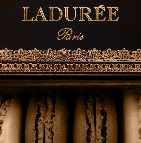 Laduree's luscious chocolate and macaroons...