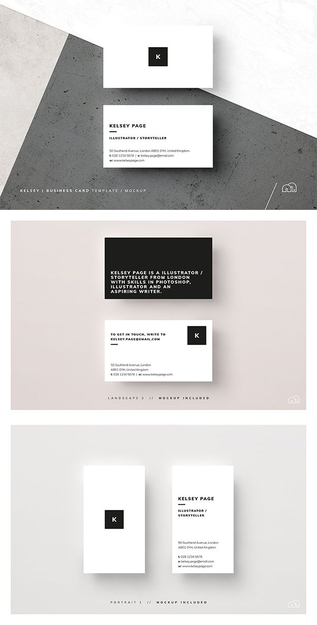 Best 25 calling cards ideas on pinterest calling card design a minimal multipurpose business card template kelsey is perfect for your next project or brand identity can be used for personal or company branding reheart Images