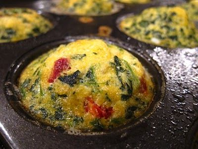 omelet muffins.  i'm going to make a double batch and freeze for easy breakfasts.