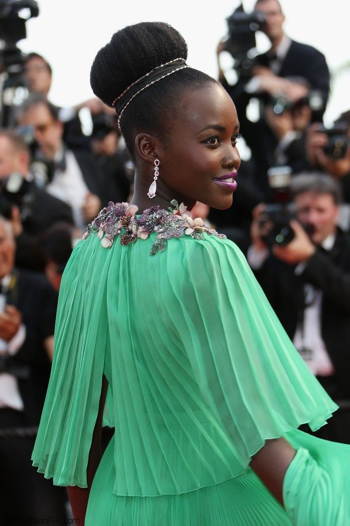 """Lupita Nyong'o at the opening ceremony and premiere of """"La Tete Haute"""" (""""Standing Tall"""") during the 2015 Cannes Film Festival. #cannes"""