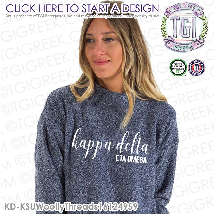 Kappa Delta | ΚΔ | Kappa Delta Woolly Threads | Woolly Threads | Kappa Delta PR | Sisterhood | TGI Greek | Greek Apparel | Custom Apparel | Sorority Tee Shirts| Sorority Tanks | Sorority T-shirts | Custom Outerwear