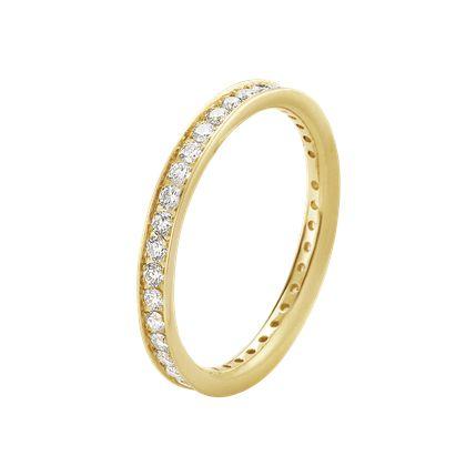 CLASSIQUE ring - 18 kt. guld med brilliantslebne diamanter