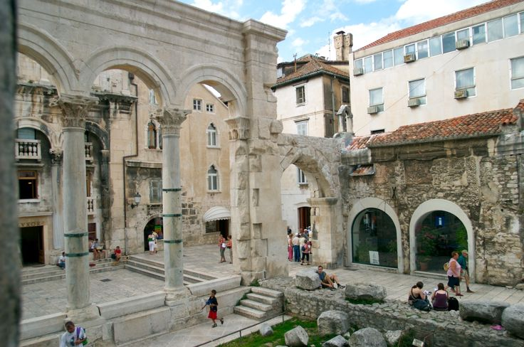 Diocletian's Palace - Split. I had to stop several times and reflect on the fact that I was shopping, drinking coffee, buying souvenirs, and dipping my toes in the water IN AN ANCIENT ROMAN PALACE.  So blessed.
