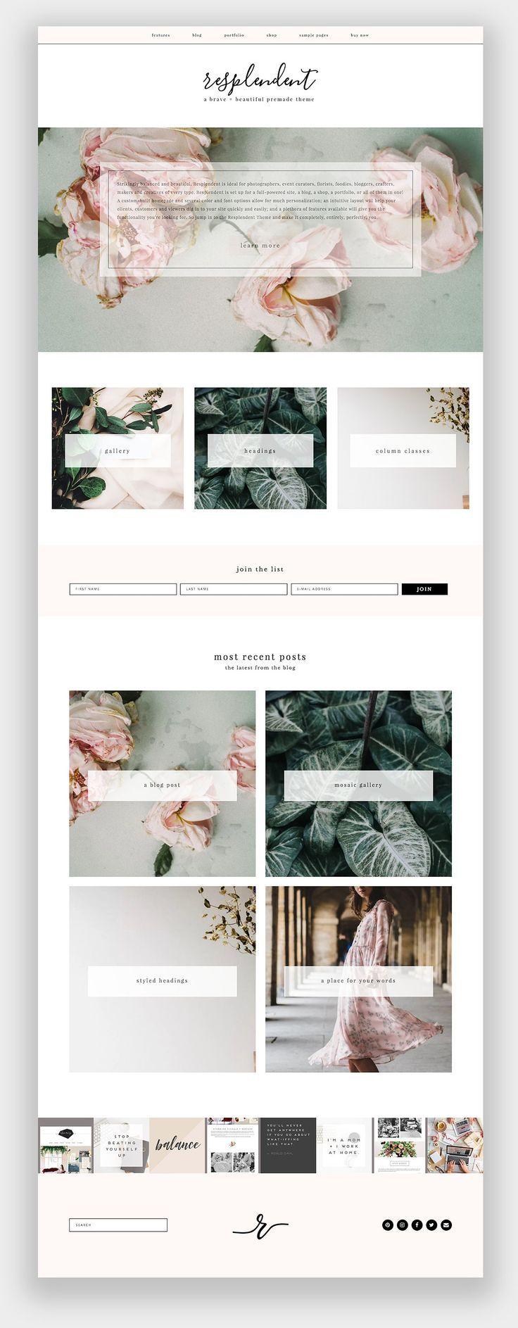 Resplendent Wordpress Theme Photography #wordpress #theme #feminine #simple #portfolio