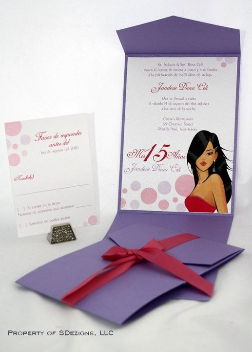 Chic Quinceanera or Sweet Sixteen invitations