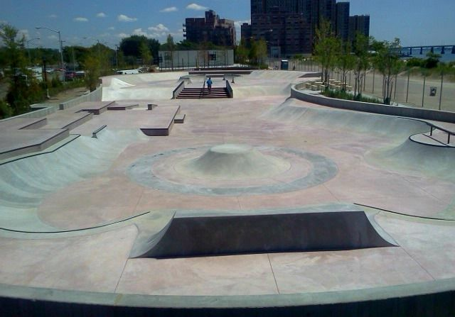 Rockaway Skatepark in New York is set to open this Fall, 2011 ! California Skateparks was a specialty skatepark contractor, and Site Design Group was the skatepark designer for this 15,700 square foot project.  New York skatepark is plaza styled with smooth transitions. California Skateparks is excited to bring their 8th skatepark to New York.