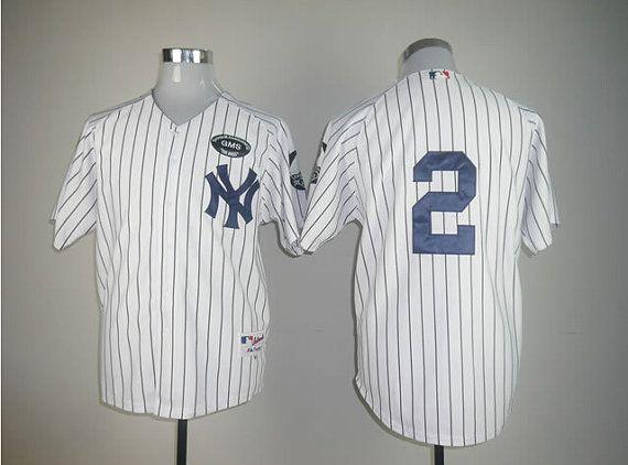 c623fbe80 ... Boss Patch Jersey New York Yankees 2 Derek Jeter GMS Personalized  Custom Derek Jeter 2 White Mens Jerseys by Woodcute