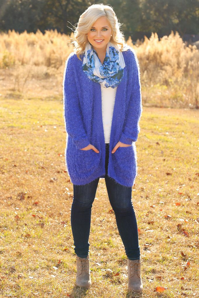 Don't Tell 'Em Cardigan: Royal Blue #shophopes