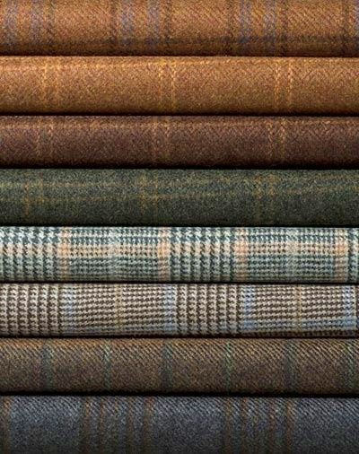 FALL FASHION ON THE WAY! Glen Plaids, Herringbones, and Tweeds ~ Atumn tones in fine English wool.
