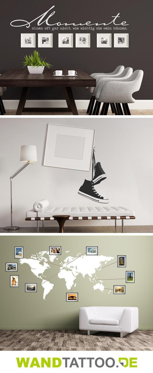 die besten 25 bilderrahmen gestalten ideen auf pinterest wandgestaltung fotos familienzimmer. Black Bedroom Furniture Sets. Home Design Ideas