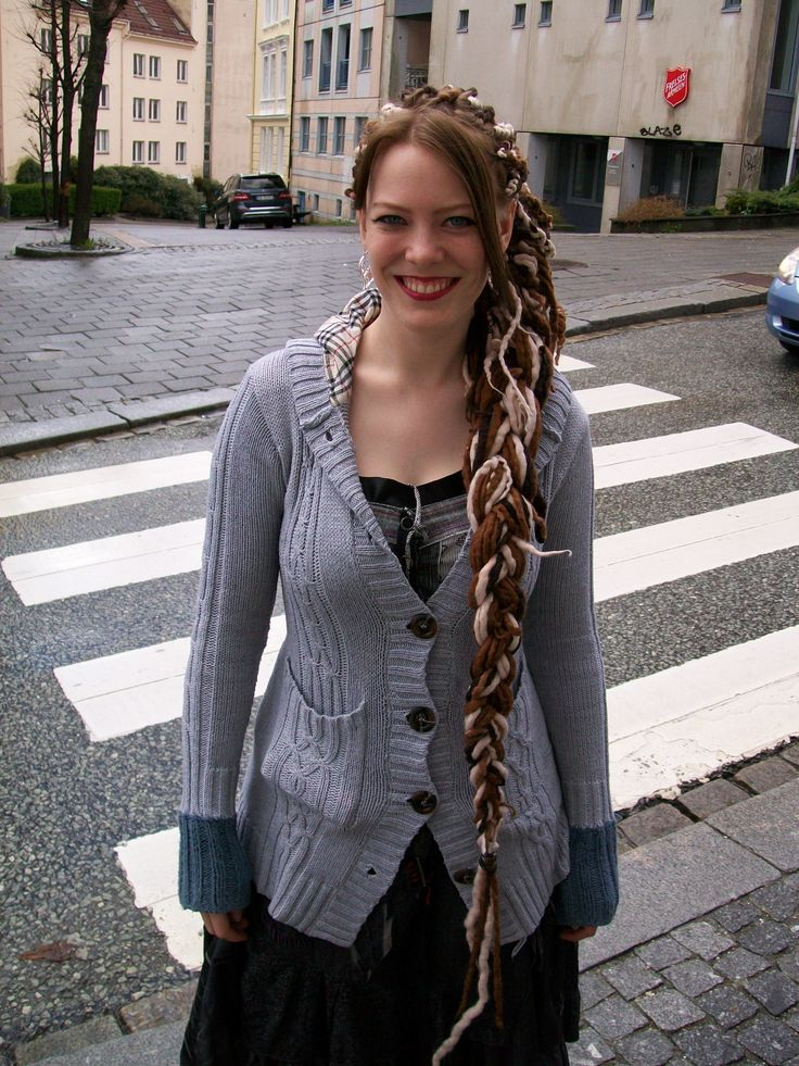 My new brown wool dreads.