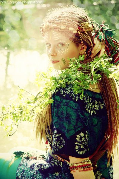 The Festive Hippie: Bohemian Fashion, Dreadlocks, The Woman, Hippie, Long Hair, Fruit Trees, Bohemian Style, Woman Style, Braids Hair