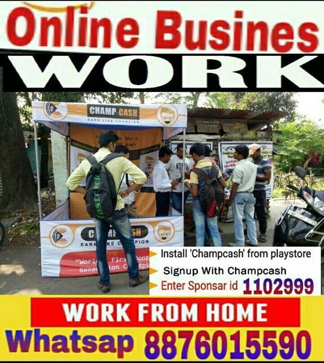 ₹ ONLINE--PART--TIME--JOB ₹ 🔺Free Joing अपने Android Mobile से Digital india से जुड़िये! गवर्नमेंट Registered Network कम्पनी कमाये 15,000/-से 50,000/-Monthly.. 📲Joining ke liye install करे #Champcash App SignUp करके आपकी Details भरीये। →Refer ID मांगने-1102999 डालें Chellenc Complet income Start..  ⤵ Details Whatsap No(+91-8876015590) ये reall है एक बार try जरूर करे! #StupidPrices