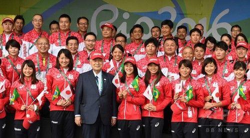 日本選手団、リオ五輪選手村で入村式 #リオ五輪