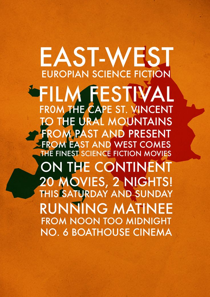 East-West Poster, Initial Idea