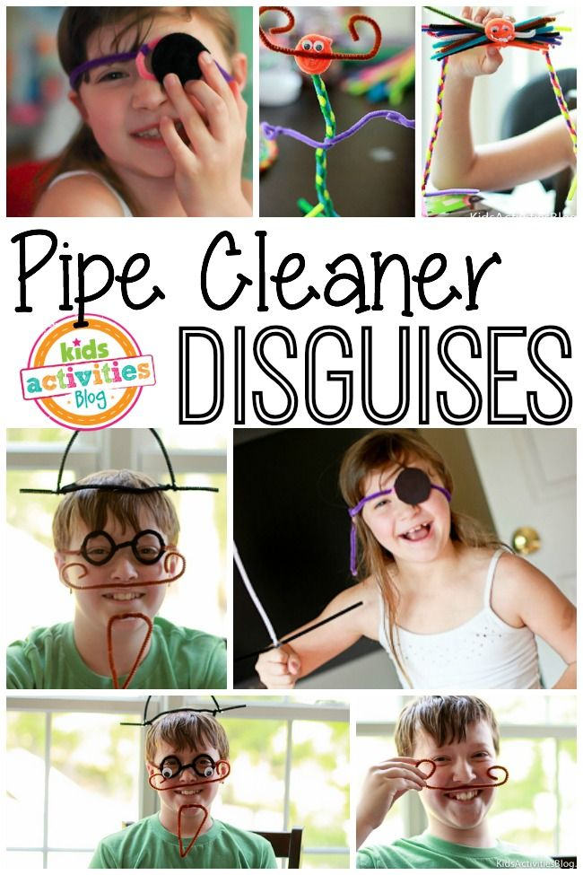 Pipe cleaner disguises - Silly fun with kids!
