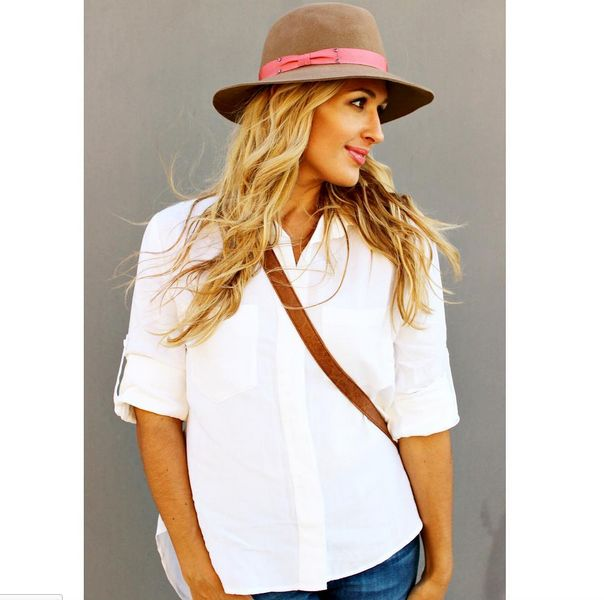 Split Back Button Down by Bella Dahl | Florence Hat from Genie by Eugenia Kim