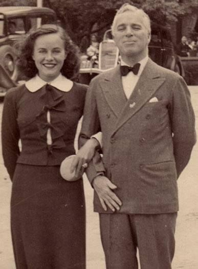 Paulette Goddard with husband Charlie Chaplin
