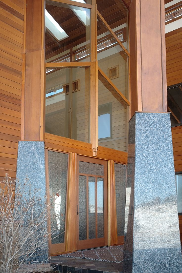 Trocal 76 entry door tiltturnwindows ca - Dakota Ridge Entry Door Exterior Square Top Rail 3 Lite