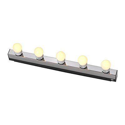 """IKEA Wandleuchte """"Musik"""" Spiegellampe Schminklampe aus verchromten Edelstahl - BxTxH 37 x 77 x 609 mm"""