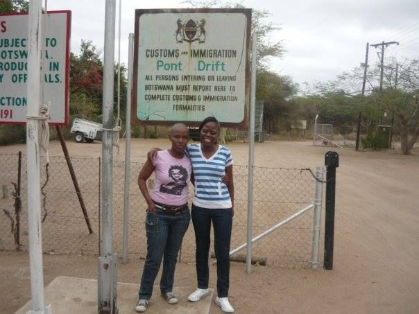 Pont Drift Border Post between Botswana and South Africa