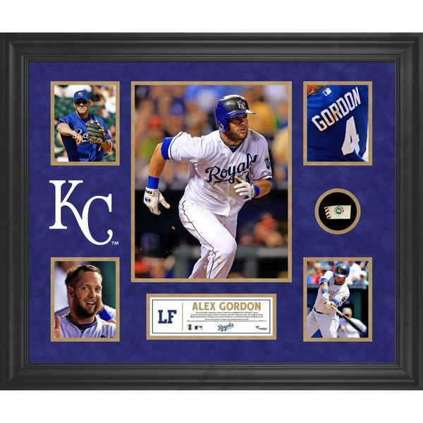 Alex Gordon Kansas City Royals Fanatics Authentic Framed 5-Photograph Collage with Piece of Game-Used Ball - $149.99