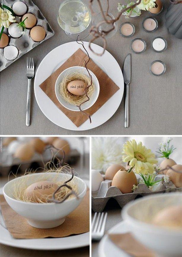 tafelschikking met eieren