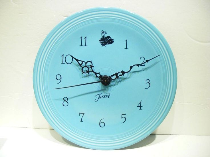 Fiesta 174 10 Quot Turquoise Wall Clock Made By Homer Laughlin