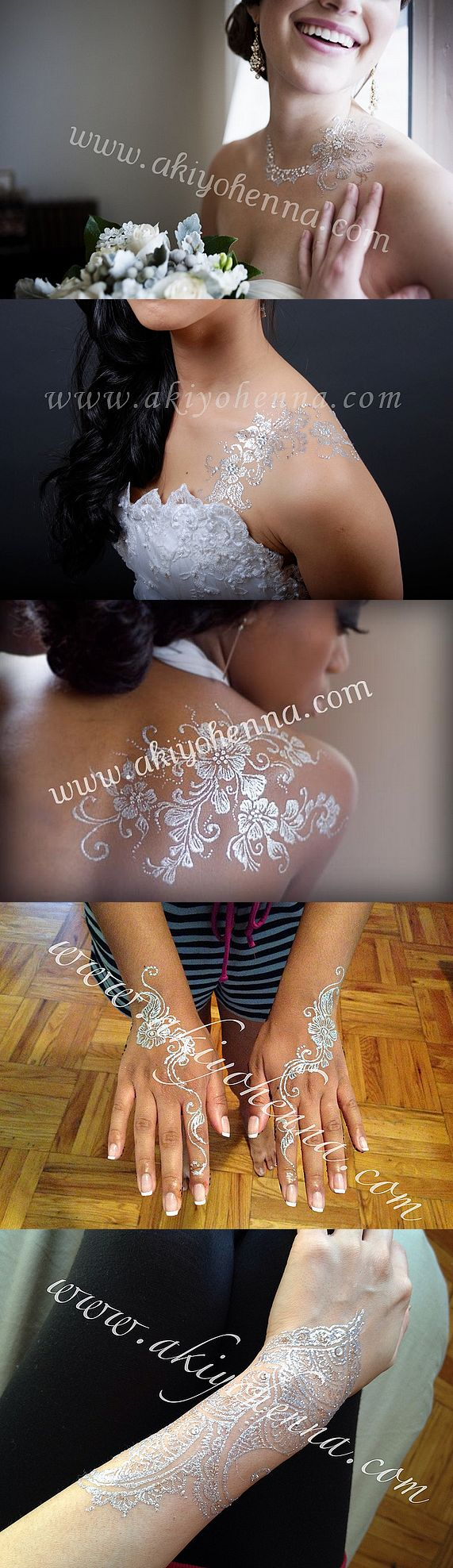 Henna Temporary Tattoo _ Luxe Glow - Bridal & Silver ! Tattoo Wedding <3 by akiyohenna