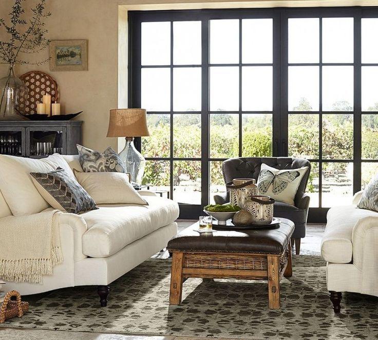 pottery barn living room amelia glass cabinet carlisle ...