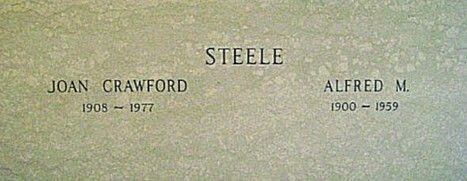 JOAN CRAWFORD'S BURIAL SITE WITH LAST HUSBAND ALFRED STEELE (PEPSI COLA COO)..AT FERNCLIFFE CEMETERY & MAUSOLEUM, HARTSDALE, NEW YORK. (CRAWFORD WAS CREMATED) HAVING DIED ON 10 MAY 1977.
