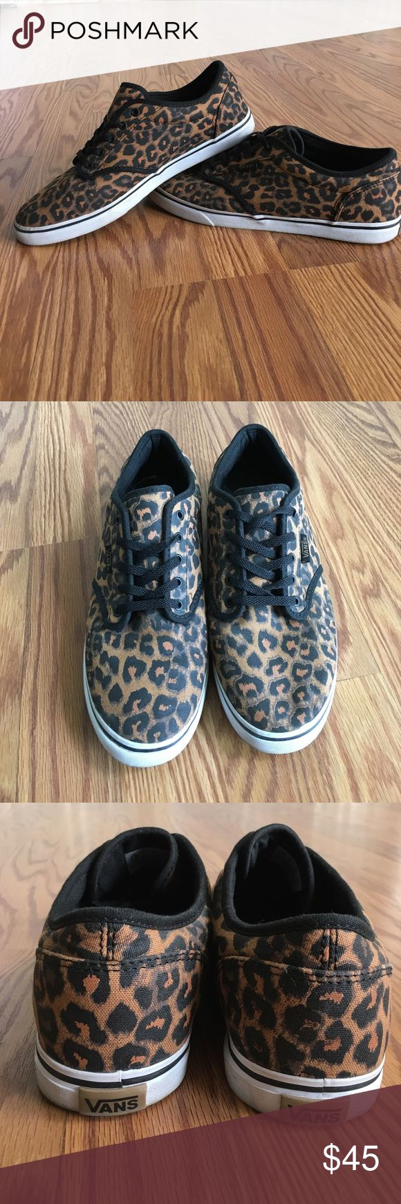 Gently worn 7.5 leopard VANS Wear them with a dress, some shorts, jeans or leggings! VANS can be worn with anything! These are gently worn and have no flaws. ⚫️🐆👟🐆⚫️ Feel free to make an offer! Vans Shoes Sneakers