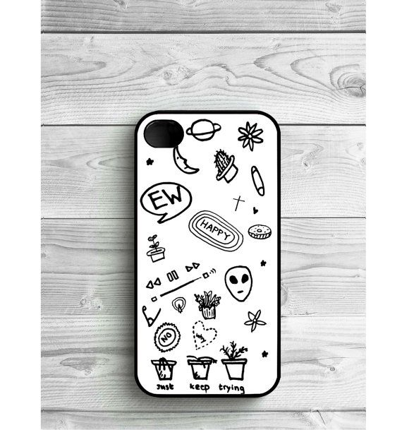 Phone Case Black and White Tumblr For iPhone 4/4S by LENKALIKE