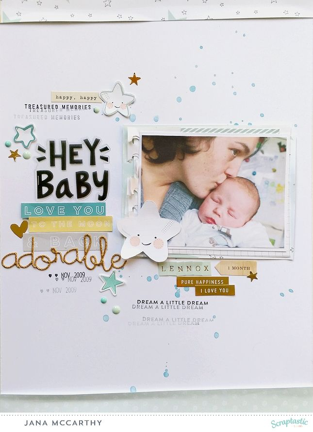 """hello everyone, just a really quick and short post… i am off to work now! i made my first layout with the scraptastic club kit from march """"sweet child o´mine"""" and the boy addOn th…"""