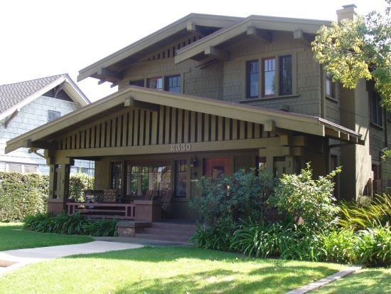 This Craftsman bungalow comes pretty close to being my dream home: big front porch, big picture windows.