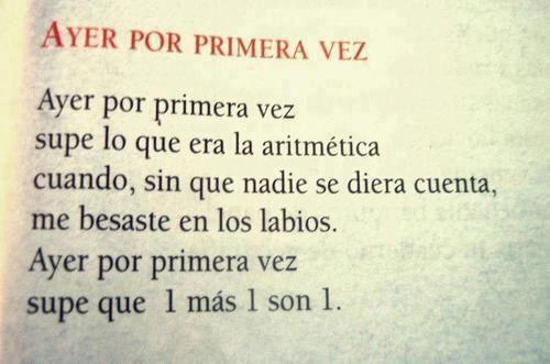 Por primera vez. Spanish. Quote. Phrase. Frase. Amor love