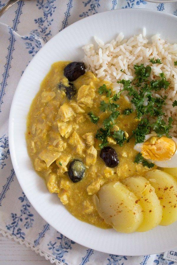 Aji De Gallina Peruvian Chicken Stew Recipe Peruvian Recipes Peruvian Cuisine South American Recipes
