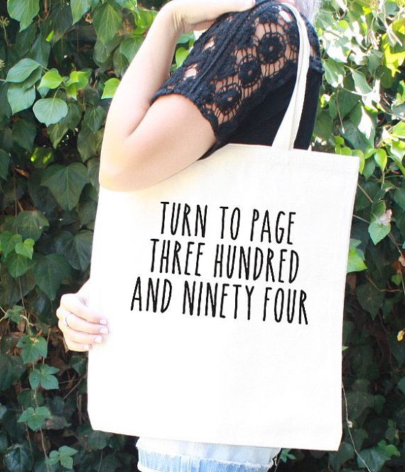 Harry Potter Tote Bag Severus Snape Turn to Page 394