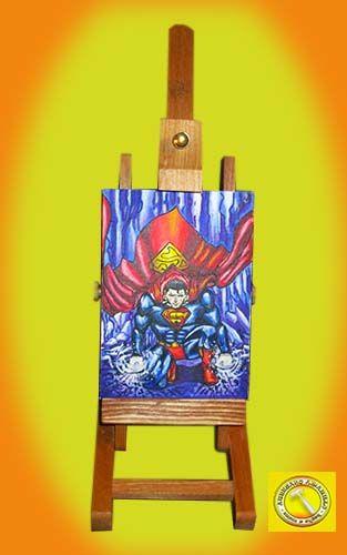 #superman cuadro en #lienzo pintado en #acrilico