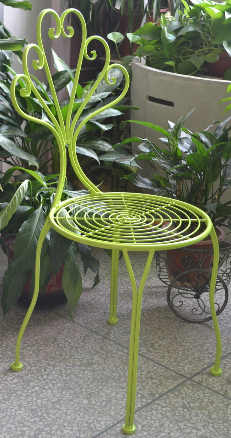 DECOR | Wilson iron lime coloured chair. Sweet and fun for the outdoors. Just $100RRP AUD and it's available in blue and white colours. Interested in wholesale? Email: info@philbee.com.au