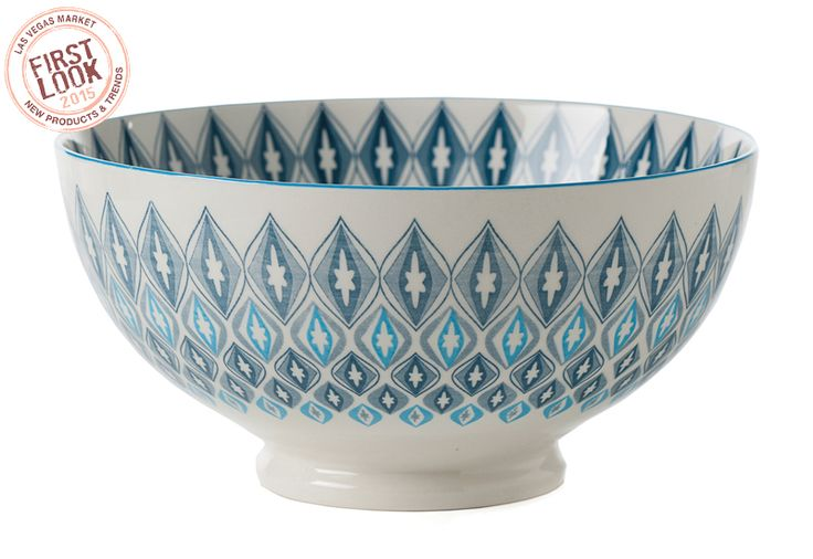 Bowled over at #LVMkt - Kiri porcelain bowls from @torreandtagus are offered in hip, timely and colorful patterns. Choose from three diameters: 4.5, 6 or 8 inches. All Kiri bowls are safe for dishwasher and microwave use.