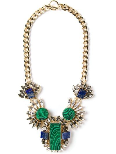 Shop ANTON HEUNIS Embellished Chain Necklace from Farfetch