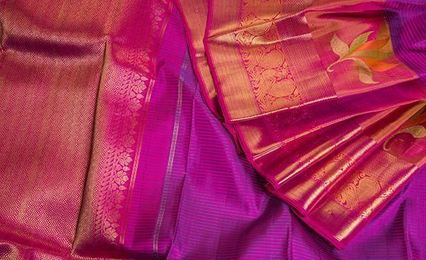 Exclusive Pure Handloom Pure Kanchipuram Silk Sarees with zari weaving Pure Silk Sari
