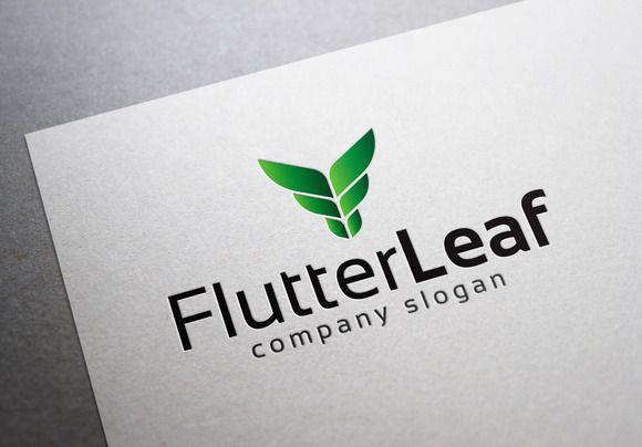 Check out Flutter Leaf Logo by EmilGuseinov on Creative Market