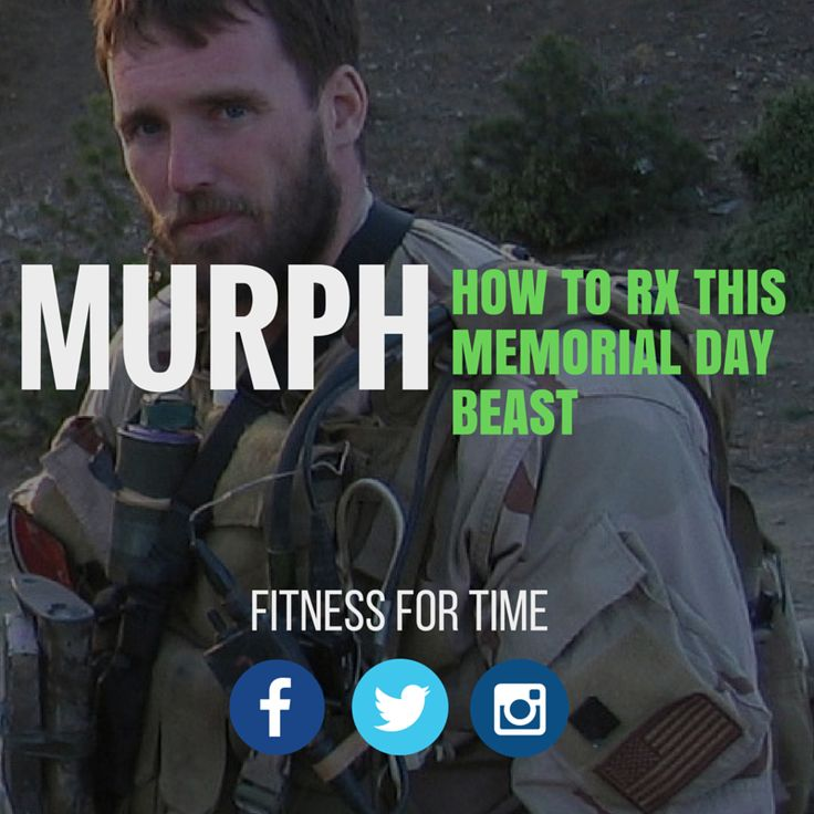 Are you tackling the infamous Murph workout this Memorial Day? Here is how to approach to taking on this beast of a workout before, during, and afterwards.  http://www.fitnessfortime.com/home/2015/5/25/murph-how-to-rx-this-memorial-day-beast