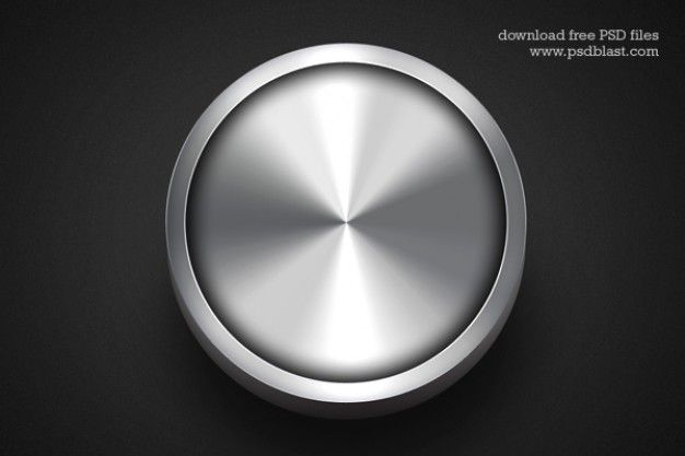 Metallic web buttons on dark background